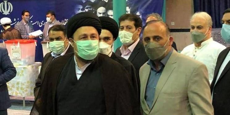 سیدحسن خمینی با حضور در جماران رای خود را به صندوق انداخت